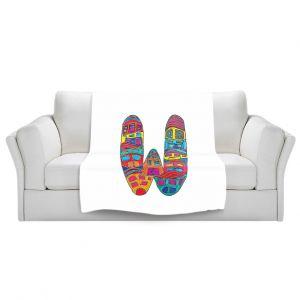 Artistic Sherpa Pile Blankets | Dora Ficher Alphabet Letter W