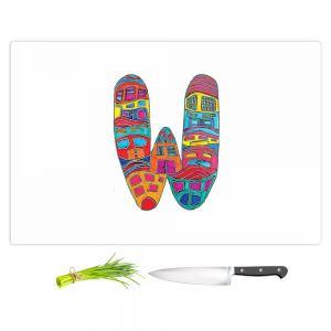 Artistic Kitchen Bar Cutting Boards | Dora Ficher - Alphabet Letter W