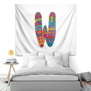 Artistic Wall Tapestry | Dora Ficher Alphabet Letter W