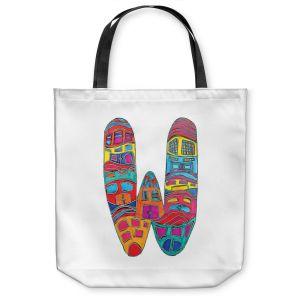 Unique Shoulder Bag Tote Bags | Dora Ficher Alphabet Letter W