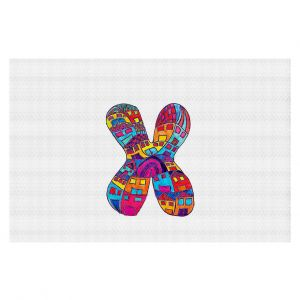 Decorative Floor Coverings | Dora Ficher Alphabet Letter X
