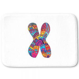 Decorative Bathroom Mats | Dora Ficher - Alphabet Letter X