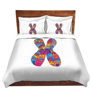 Artistic Duvet Covers and Shams Bedding | Dora Ficher - Alphabet Letter X