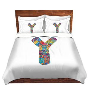 Artistic Duvet Covers and Shams Bedding | Dora Ficher - Alphabet Letter Y