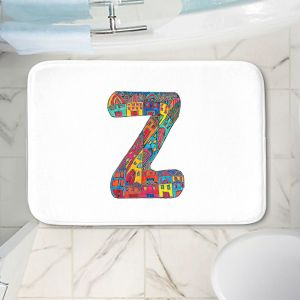 Decorative Bathroom Mats   Dora Ficher - Alphabet Letter Z