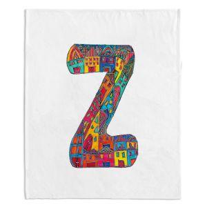 Artistic Sherpa Pile Blankets | Dora Ficher Alphabet Letter Z