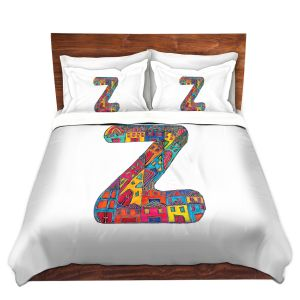 Artistic Duvet Covers and Shams Bedding | Dora Ficher - Alphabet Letter Z