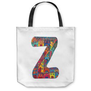 Unique Shoulder Bag Tote Bags | Dora Ficher Alphabet Letter Z