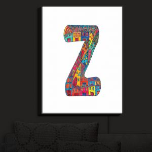 Nightlight Sconce Canvas Light | Dora Ficher - Alphabet Letter Z
