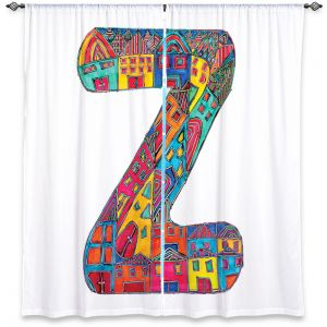 Decorative Window Treatments | Dora Ficher Alphabet Letter Z