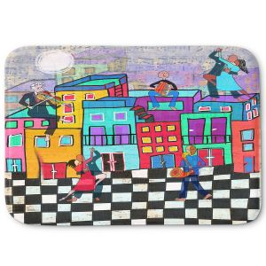 Decorative Bathroom Mats | Dora Ficher - Bailando el Tango | city dancing street