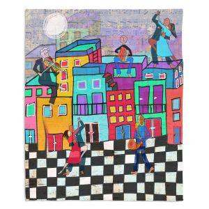 Decorative Fleece Throw Blankets | Dora Ficher - Bailando el Tango | city dancing street