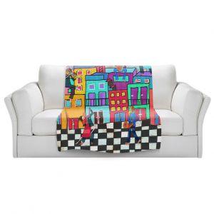 Artistic Sherpa Pile Blankets | Dora Ficher - Bailando el Tango | city dancing street