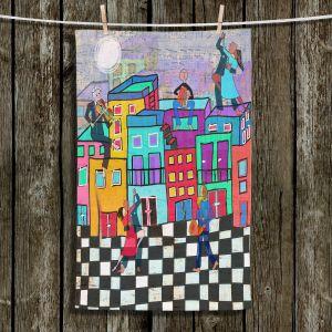 Unique Hanging Tea Towels | Dora Ficher - Bailando el Tango | city dancing street