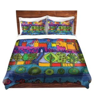Artistic Duvet Covers and Shams Bedding | Dora Ficher - Blue Mountain