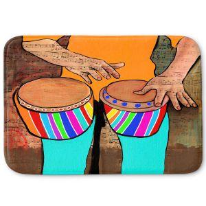 Decorative Bathroom Mats | Dora Ficher - Bump Bump Bump | drums bongos instrument music