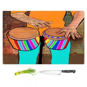 Artistic Kitchen Bar Cutting Boards | Dora Ficher - Bump Bump Bump | drums bongos instrument music