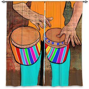 Decorative Window Treatments | Dora Ficher - Bump Bump Bump | drums bongos instrument music