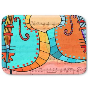Decorative Bathroom Mats | Dora Ficher - Cellos Play | string instrument music
