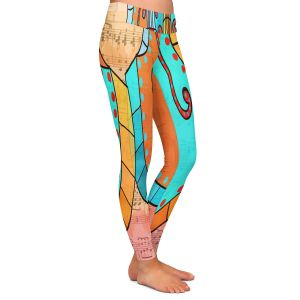 Casual Comfortable Leggings | Dora Ficher - Cellos Play | string instrument music