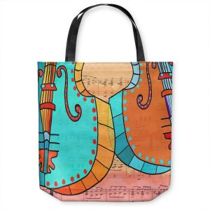 Unique Shoulder Bag Tote Bags | Dora Ficher - Cellos Play | string instrument music