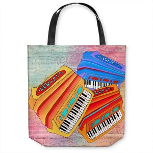 Unique Shoulder Bag Tote Bags | Dora Ficher - Colorful Accordians | instrument music