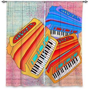Decorative Window Treatments | Dora Ficher - Colorful Accordians | instrument music