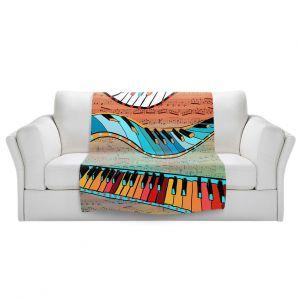 Artistic Sherpa Pile Blankets   Dora Ficher - Dancing Keys   keyboard piano music instrument