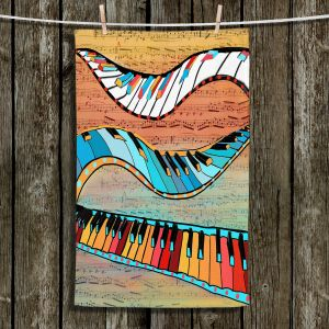 Unique Bathroom Towels | Dora Ficher - Dancing Keys | keyboard piano music instrument