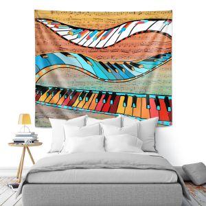 Artistic Wall Tapestry   Dora Ficher - Dancing Keys   keyboard piano music instrument