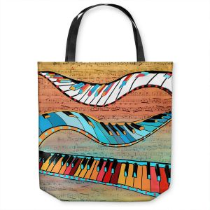 Unique Shoulder Bag Tote Bags   Dora Ficher - Dancing Keys   keyboard piano music instrument