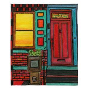 Artistic Sherpa Pile Blankets | Dora Ficher - Door 888 | Scene architecture window setting