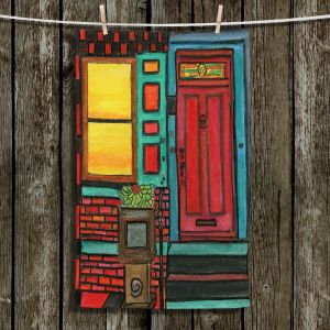 Unique Hanging Tea Towels | Dora Ficher - Door 888 | Scene architecture window setting