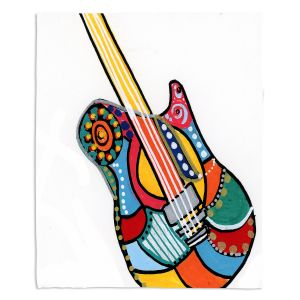 Artistic Sherpa Pile Blankets | Dora Ficher - Electric Guitar | string instrument music rock