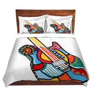 Artistic Duvet Covers and Shams Bedding | Dora Ficher - Electric Guitar | string instrument music rock