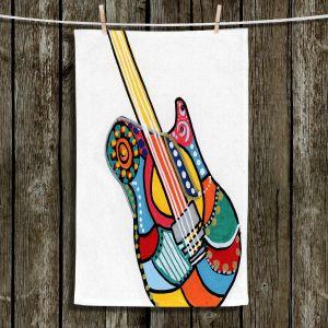 Unique Hanging Tea Towels | Dora Ficher - Electric Guitar | string instrument music rock