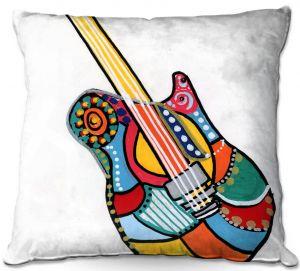 Throw Pillows Decorative Artistic | Dora Ficher - Electric Guitar | string instrument music rock
