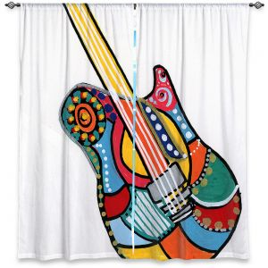 Decorative Window Treatments | Dora Ficher - Electric Guitar | string instrument music rock