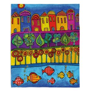 Decorative Fleece Throw Blankets | Dora Ficher - Fishing Village