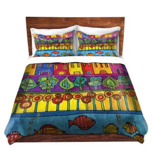 Unique Duvet Twill King ONLY from DiaNoche Designs by Dora Ficher - Fishing Village