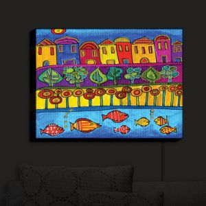 Nightlight Sconce Canvas Light | Dora Ficher's Fishing Village