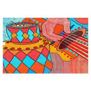 Decorative Floor Covering Mats | Dora Ficher - Folk Song | drums guitar music instrument