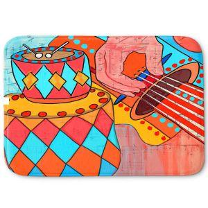 Decorative Bathroom Mats | Dora Ficher - Folk Song | drums guitar music instrument
