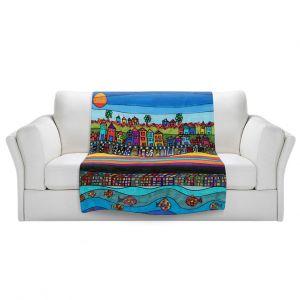 Artistic Sherpa Pile Blankets | Dora Ficher - Garden Poppies