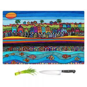 Artistic Kitchen Bar Cutting Boards | Dora Ficher - Garden Poppies
