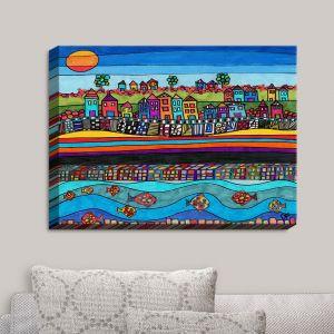 Decorative Canvas Wall Art | Dora Ficher - Garden Poppies | Flowers Bight Colors