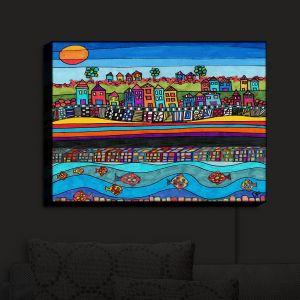 Nightlight Sconce Canvas Light | Dora Ficher - Garden Poppies | Flowers Bight Colors