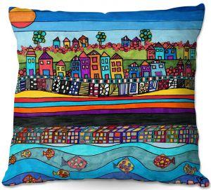 Throw Pillows Decorative Artistic | Dora Ficher - Garden Poppies