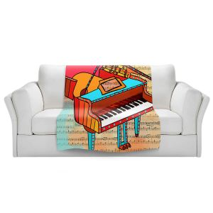 Artistic Sherpa Pile Blankets   Dora Ficher - Grand Piano   music instrument abstract simple