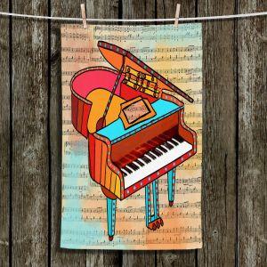 Unique Bathroom Towels   Dora Ficher - Grand Piano   music instrument abstract simple